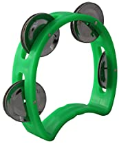 YMC 4-Inch Child's Mini Plastic Tambourine with 4 Jingles - Green