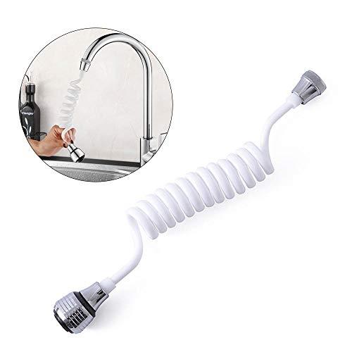 FOONEE Faucet Retractable Water Saving Hose, 360-Degree Adjustable Nozzle Kitchen Spout Faucet Extender, Home Tap Bubbler Filter Improvement Wash (Faucet Spout Extension)