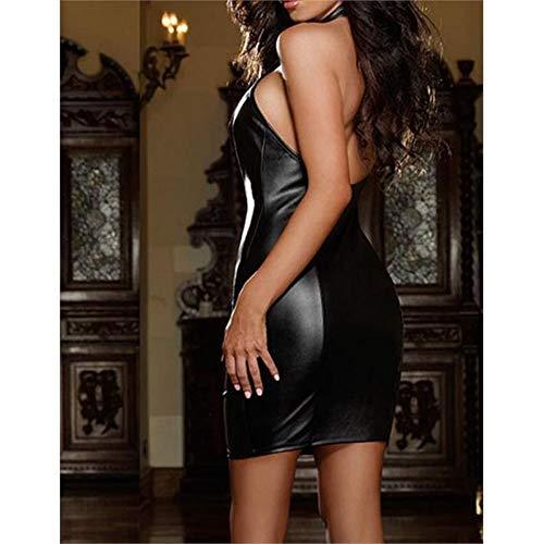 cuoio donne sexy Moda Intimo delle Black di sottile qCzCOw