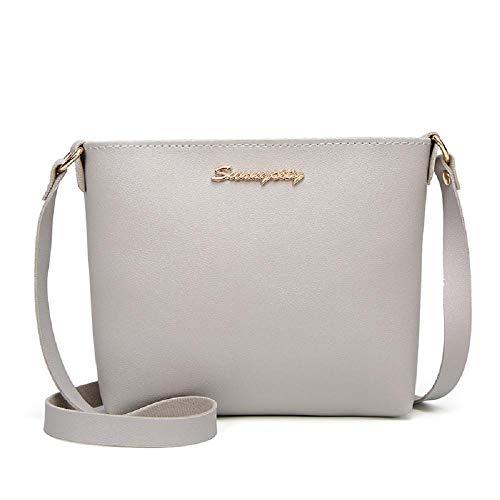 Tote Gray Fashion Zipper Women Crossbody Shoulder Handle Handbags Solid Faux Amaone Leather Top Colour Ladies Purse For Messenger Bag Satchel 0H7ZSq