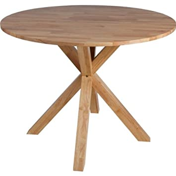 Montego Round Oak Dining Table Elmdon Oak Circular Dining Table