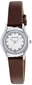 Sonata Essentials Analog White Dial Women's Watch-NM87020SL01W / NL87020SL01W