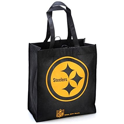 8ab997eb320 Amazon.com: Team Beans Pittsburgh Steelers Reusable Tote Bag: Sports &  Outdoors