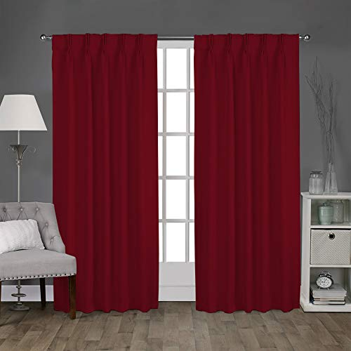 - Magic Drapes Double Pinch Pleat Thermal Insulation Blackout Curtains &Window Panel for Bed Room Living Room (52x63, Burgundy)