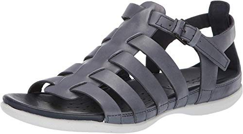 ECCO Women's Flash Strappy Sandal, Marine, 38 M EU (7-7.5 US) (Athletic Shoes Ecco Womens)