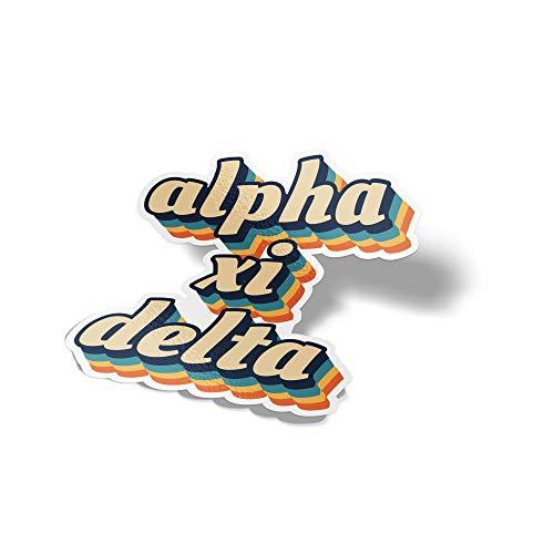(Desert Cactus Alpha Xi Delta 70's Letter Sticker Decal Greek Tall for Window Laptop Computer Car Alpha zee)