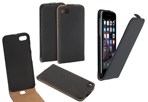Yayago Étui à rabat en cuir pour iPhone 7, Couleur noir