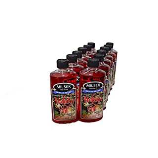 Milsek Furniture Polish and Cleaner with Cinnamon-Raspberry Scent (Holiday Oil), 12-Ounce, Pack of 12, HO-12-12PL