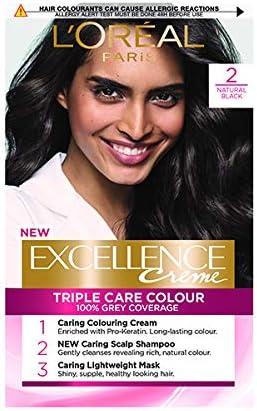 LOreal Paris Excellence Colorante de pelo, Negro (Natural ...