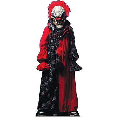 (30x74) Creepy Clown Halloween Horror Lifesize Standup Poster