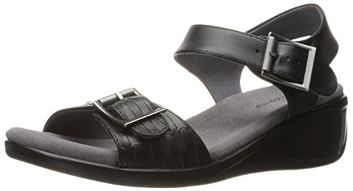 Trotters Women Eden Wedge Sandal Black