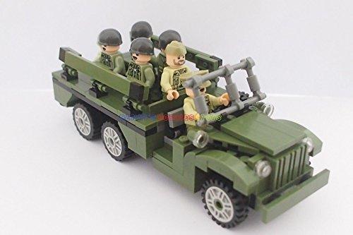American Dodge WC 63 Truck & 7 Soldier Minifigures