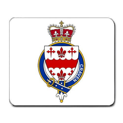 - Craven Ireland Family Crest Coat of Arms Mouse Pad