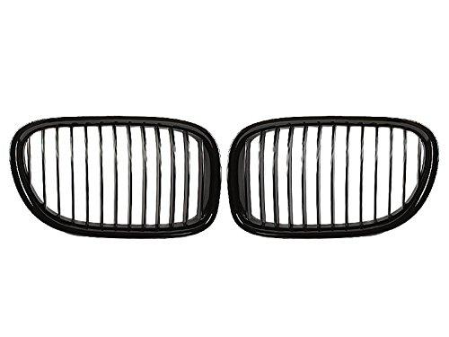 Deltalip Shiny Gloss Black Front Bumper Kidney Grille For BMW F01 F02 730i 740i 09-15