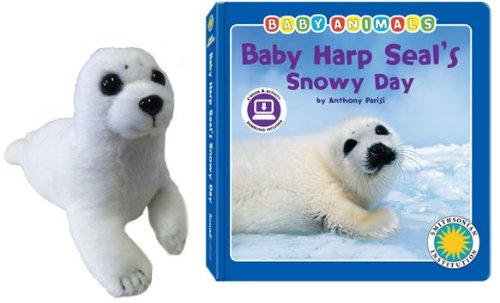 (Baby Harp Seal's Snowy Day - a Smithsonian Baby Animals Book (with stuffed toy baby animal))