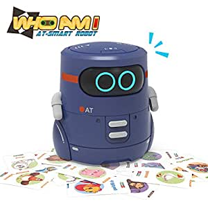 REMOKING STEM Educational Robot Toy for Kids,Children,Toddlers,Smart Interactive Robotics,Guess Animal Cards,Touch Sense,Repeating&Recording Talking,Sing,Dance,Walk,Best Gifts for 3 Year Old Up Boys Girls Toys(Blue)