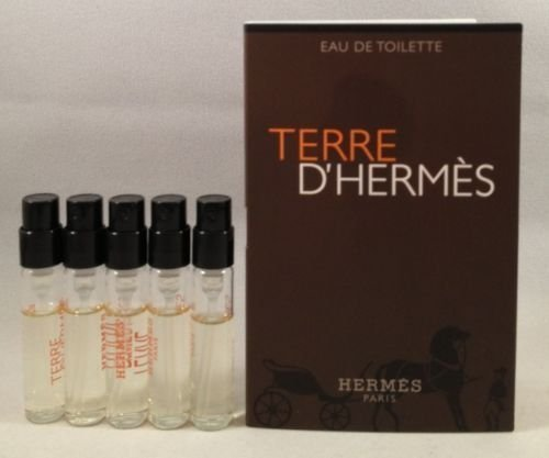 Women Edt Spray Vial (5 Hermes Terre D'hermes EDT Spray Vial Sample .06 Oz/2 Ml Each Lot)