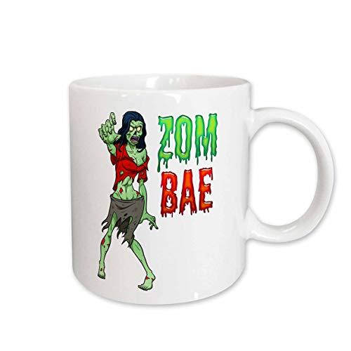 3dRose Carsten Reisinger - Illustrations - Zombae Funny Halloween Zombie Woman - 15oz Mug (mug_294850_2) -