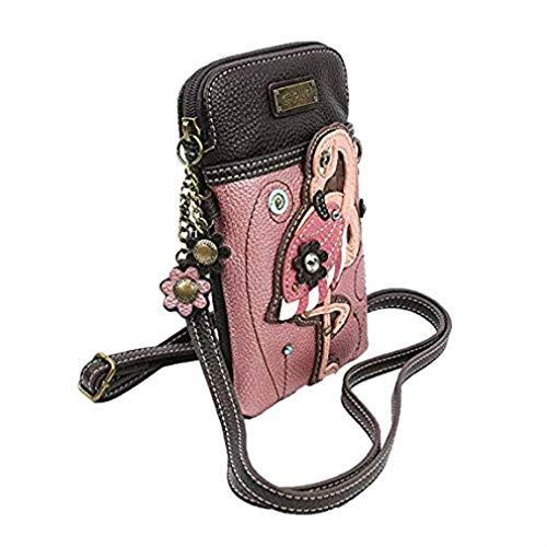 (Chala Crossbody Cell Phone Purse-Women PU Leather Multicolor Handbag with Adjustable Strap - Flamingo)