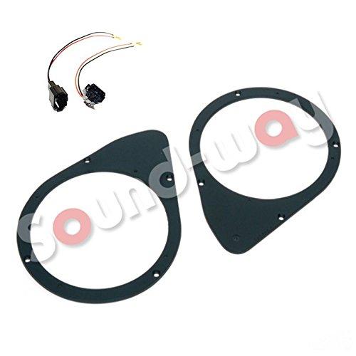 sound-way Kit Montage Adaptateurs Haut-parleurs Enceintes entretoise 16, 5 cm pour Fiat Stilo/Fiat 500