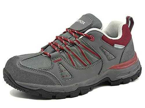 Trekking Da Camminata rosso Impermeabili Antiscivolo Leggere Grigio Escursionismo Passeggio Tecnica Knixmax Scarpe E Donna Multifunzione BpqwcfS