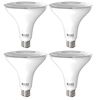 Sunco Lighting 4 Pack PAR38 LED Bulb 13W=100W, 5000K Daylight, 1050 LM, Dimmable, Indoor/Outdoor Spotlight, Waterproof - UL & Energy Star