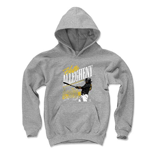500 LEVEL Josh Bell Pittsburgh Pirates Youth Sweatshirt (Kids Small, Gray) - Josh Bell Allegheny Y WHT (Pirate Youth Sweatshirt)