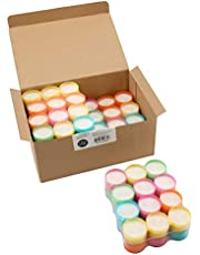 Multicolor Tea Light Candles - 6 to 7 Hr Extended Burn Time - 96 Pack