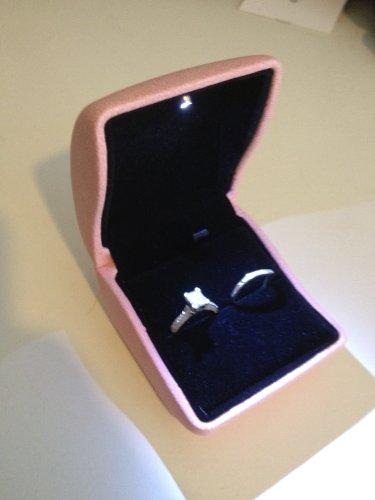 Pink LED Light Engagement Wedding Ring - Rings Ca Engagement