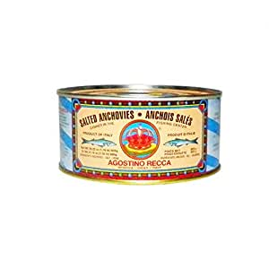 Recca Salted Anchovies - Net Weight 1lb. 12oz (Drained Weight 1lb. 3oz.)