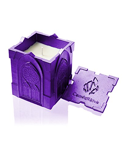 Candellana Candles Candlefort Candles Concrete Gothic Violet Metallic, Scent: for Her -