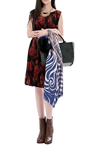 Everyday Elegance Women's Velvet Cocktail Party Dress (Large Dark Red) (Sailor Outfit Ebay)