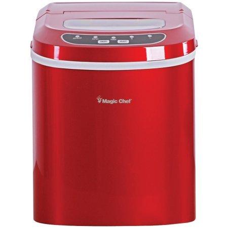 Magic Chef Portable Countertop Ice Maker, Red (Magic Chef Ice Maker Parts compare prices)