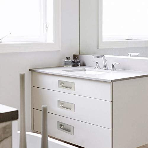 Lot de 2 poignées encastrables pour meuble à porte coulissante Placard de cuisine Acier inoxydable: Amazon.es: Bricolaje y herramientas