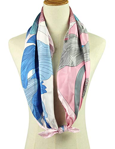 Silk Scarf Square Scarf for Hair Women-Pantonight 100% Pure Silk 14MM Hand Rolling Edge Silk Twill Scarf for Women (PINK 025)