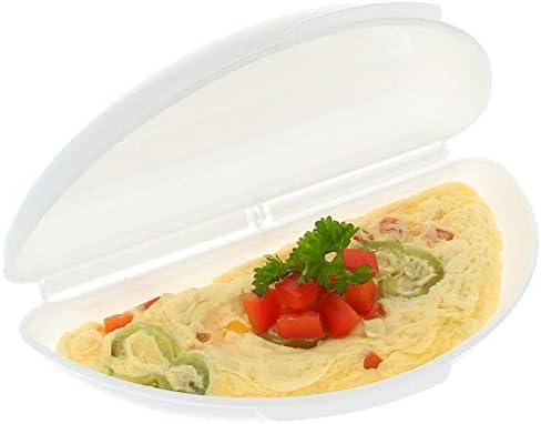Recipiente Cuece Huevos Microondas | Alternativa al Sarten para Tortillas | Microwave Egg, Omelette Maker | Estuche Vapor Microondas, Ideal para Vegetales | Tortillas Francesas Saludables y Rápidas: Amazon.es: Hogar