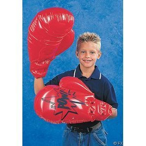 Fun Express Single Pair Giant Jumbo Inflatable Boxing Gloves ()