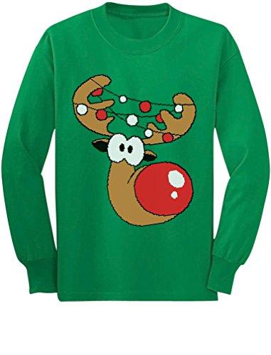 Tstars Reindeer Funny Christmas Youth Kids Long Sleeve T-Shirt Medium (Funny Holiday Family Photos)