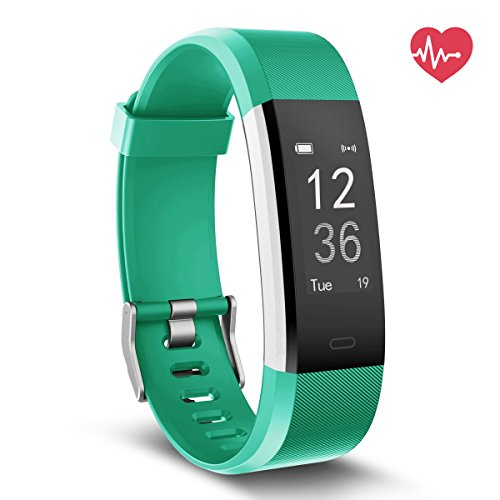 Delvfire Fitness Tracker HR, Activity Tracker with Heart Rate Monitor Watch, IP67 Waterproof Smart Wristband with Calorie Counter Watch Pedometer Sleep Monitor for Kids Women Men (Green)