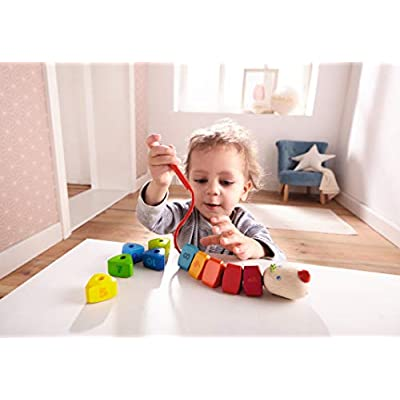 HABA Threading Game Number Dragon | Wooden Threading Toys | 302161: Baby