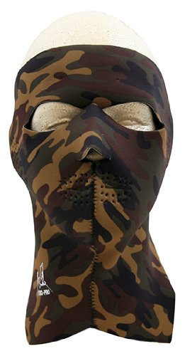Exo Pro S244 Sure Shot Full Face and Neck Mask, Camo