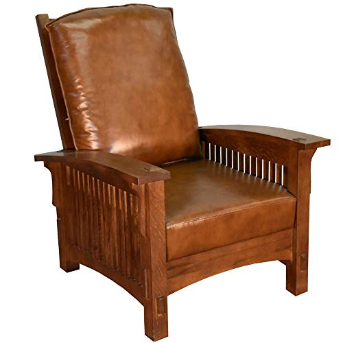 Craftsman/Mission Morris Chair - Leather