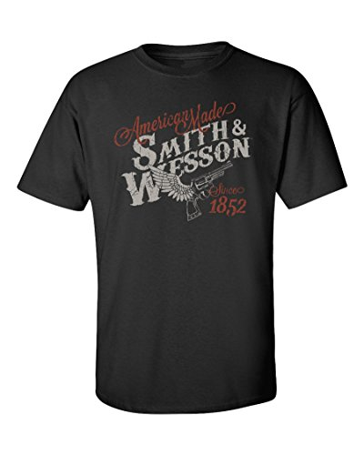 (Smith & Wesson S&W American Made Winged Gun Tee in Black)