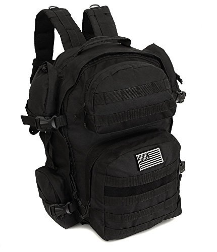 Men's Large Molle Black Expandable Tactical Molle Expandable Hydration-Ready Backpack Daypack Large Bag [並行輸入品] B07R3VBV8P, Dear worker ディアワーカー:c6c36d4d --- ijpba.info