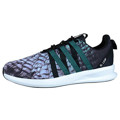 Adidas Originals Mens Sl Loop Racer Lace-up Sneaker Zwart