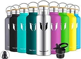 Super Sparrow Trinkflasche Edelstahl Wasserflasche - 350ml, 500ml, 620ml, 750ml, 1000ml - Standardmund Isolierflasche mit...