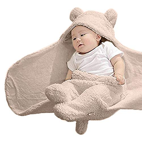 Price comparison product image Baby Clothes Set,  Boys Girls Cotton Sleeping Blanket Infant Wrap Swaddle (0-1 Years Old,  Khaki)