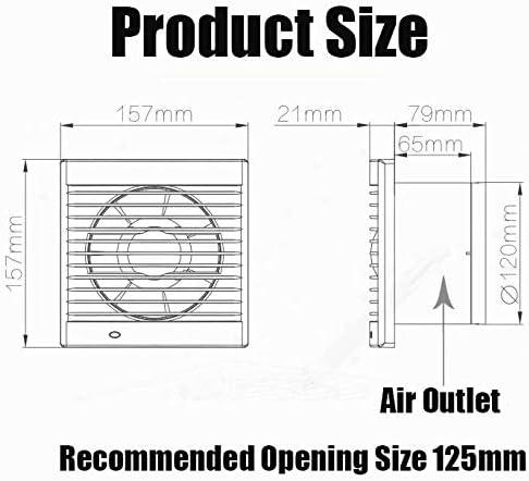 Ventilateur Extracteur avec Clapet Anti-Retour and Waterproof Rating IPX4 pour Salle De Bain Et Cuisine Faible Consommation D/énergie 16 W Fonctionnement Silencieux 41 /Ø 120mm