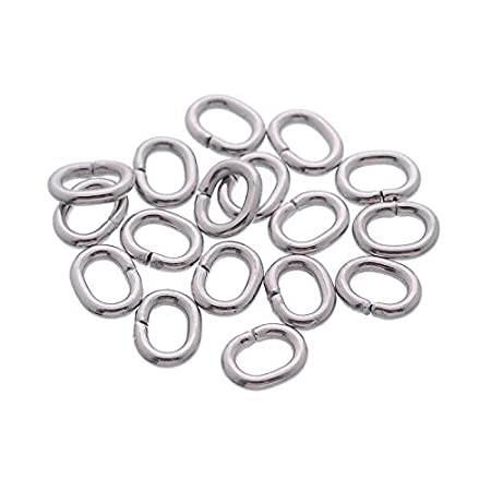Stainless Steel Open Jump Rings Jewellery Making Findings 1mm Thickness Angel Malone /® 100 x 6mm