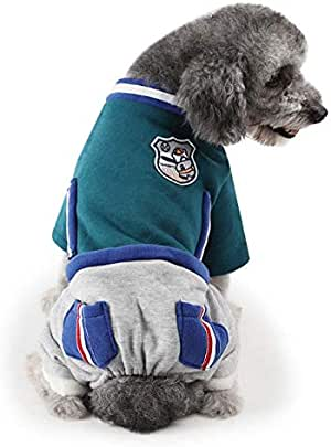 Pet dogs clothes fashion casual outdoor fleece pet apparel two color mixed pet dog jumpsuits